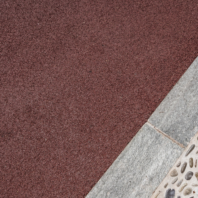 """""""Perspective View of Various Color Grunge Brick Stone on The Ground for Street..."""" stock image"""
