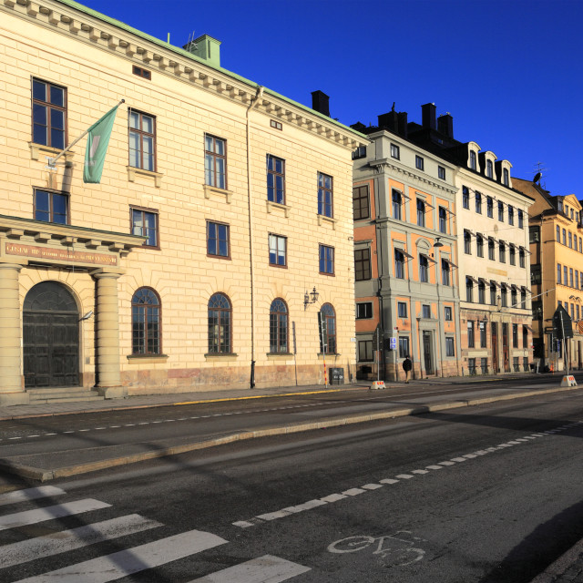 """Buildings in the Gamla Stan, Stockholm City, Sweden, Europe"" stock image"