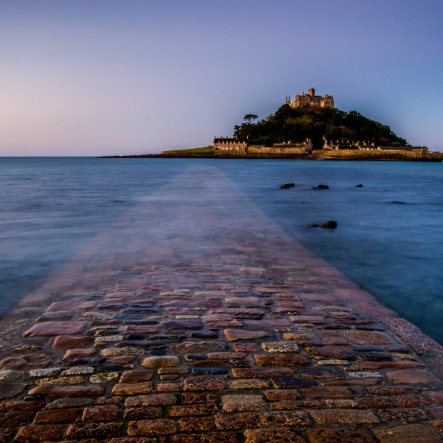"""Sunrise at St Michael's Mount"" stock image"
