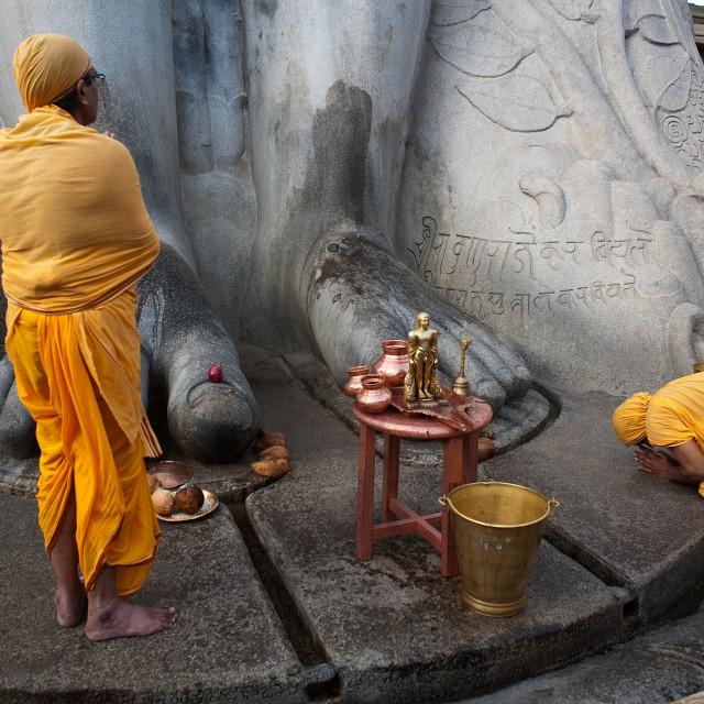 """Jain worship ( India)"" stock image"