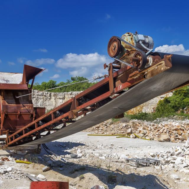 """""""Old rusty crushing machine"""" stock image"""