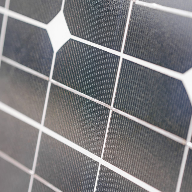 """""""Solar Panel Closeup"""" stock image"""