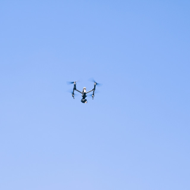 """""""Drone in Operation"""" stock image"""