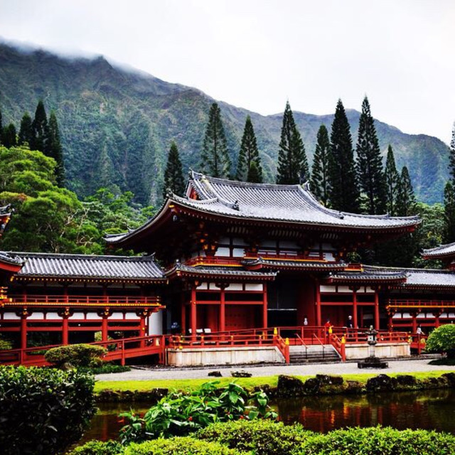 """Byodo-In Temple"" stock image"