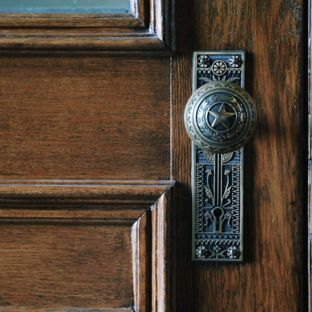 """Texas Doorknob"" stock image"
