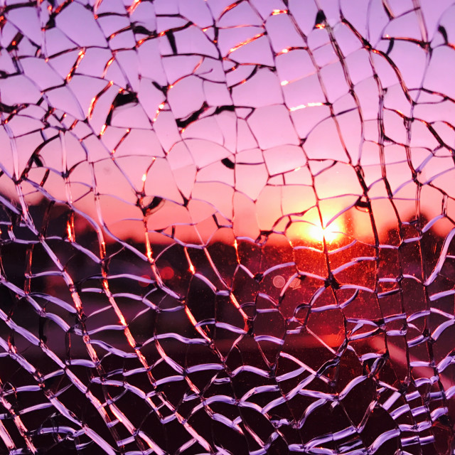 """Shattered Sunset"" stock image"