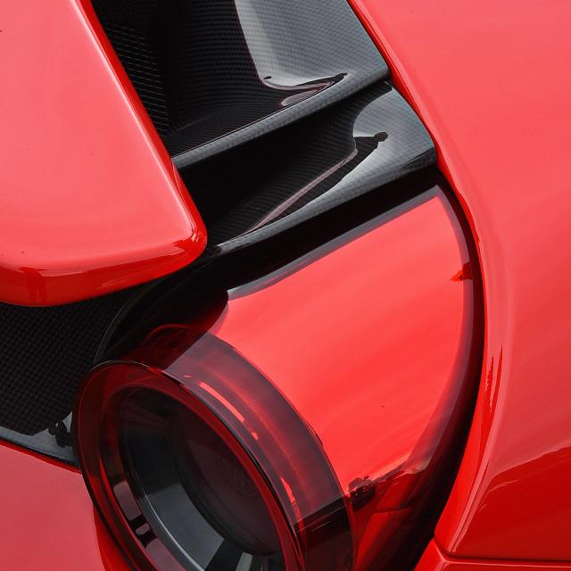 """""""Ferrari F8 Tributo Tail Light"""" stock image"""