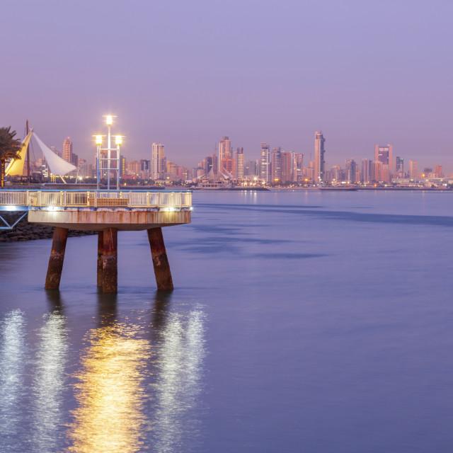 """Corniche in Kuwait City"" stock image"