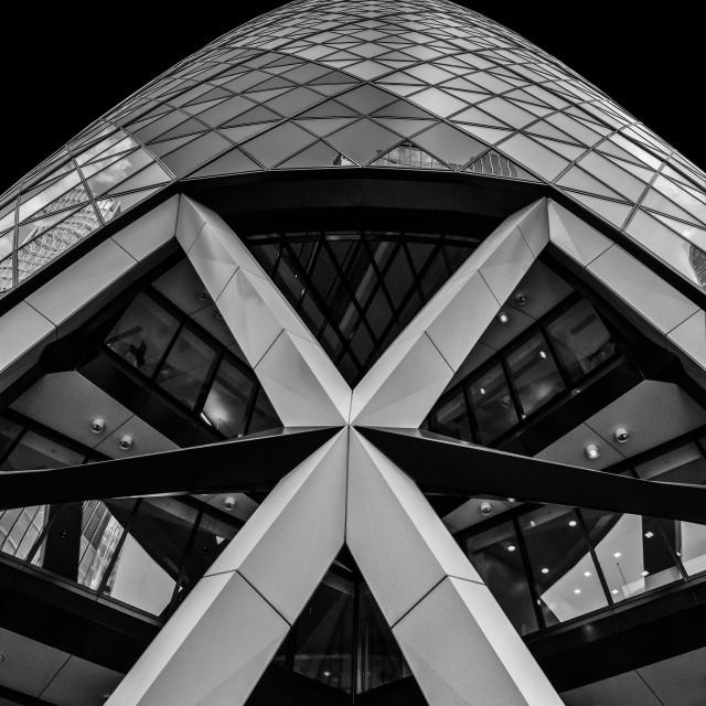 """The Gherkin London"" stock image"