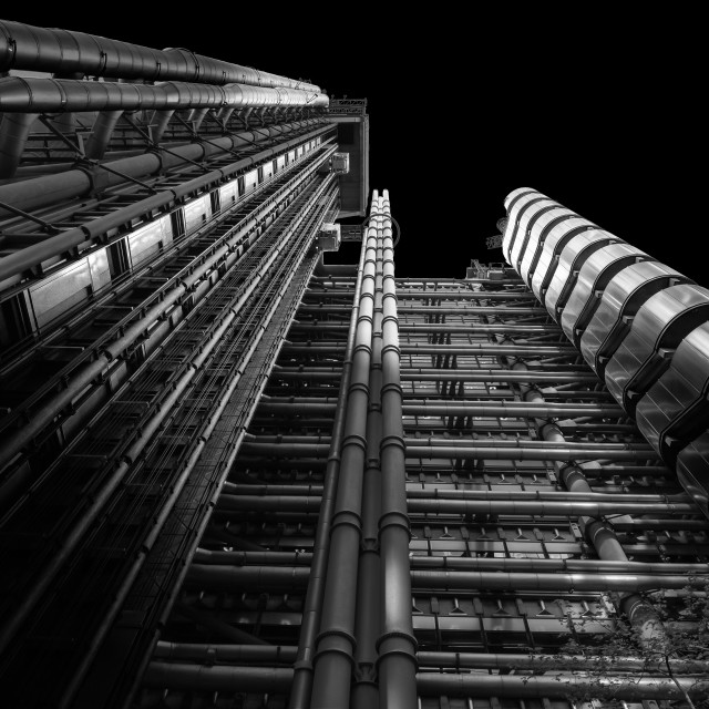 """Side of The Lloyds Building London"" stock image"