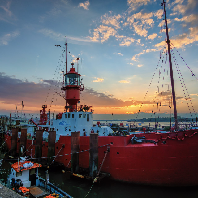 """Ha'penny Pier Sunset Harwich"" stock image"