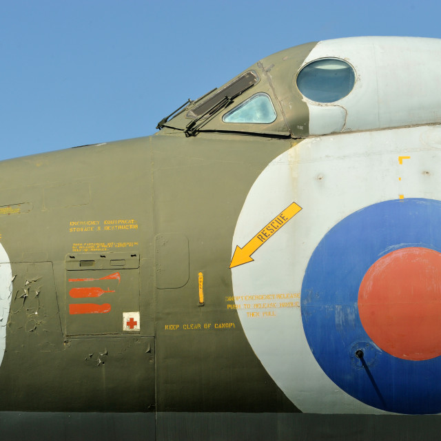 """""""Vulcan Bomber cockpit"""" stock image"""