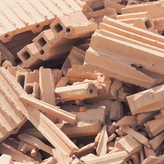 """Red Brick Debris"" stock image"