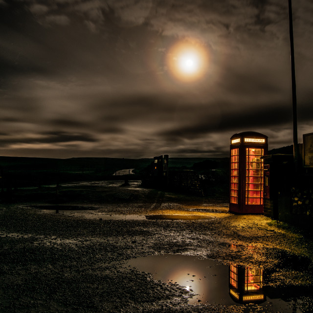 """Phone Box, Birling Gap"" stock image"