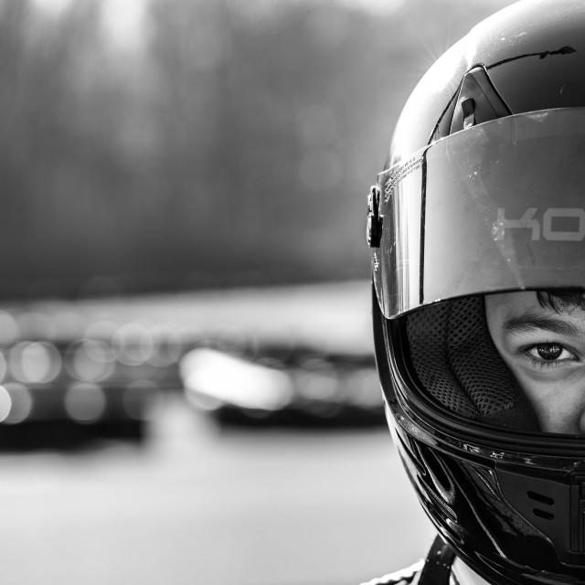 """Racing focus"" stock image"