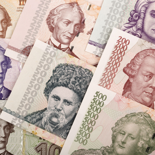 """Full set of Transnistrian money, a background"" stock image"