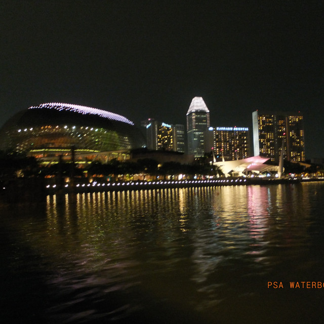 """Clarke Quay Waterfront"" stock image"