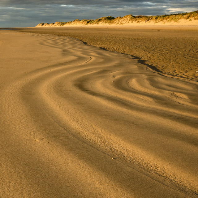 """""""Shift sands Formby Beach"""" stock image"""
