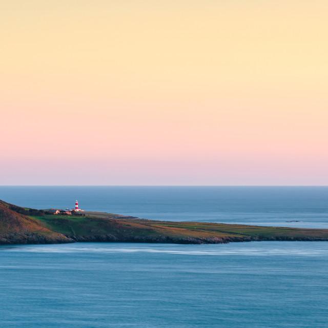 """""""Sunset Bardsey Island"""" stock image"""