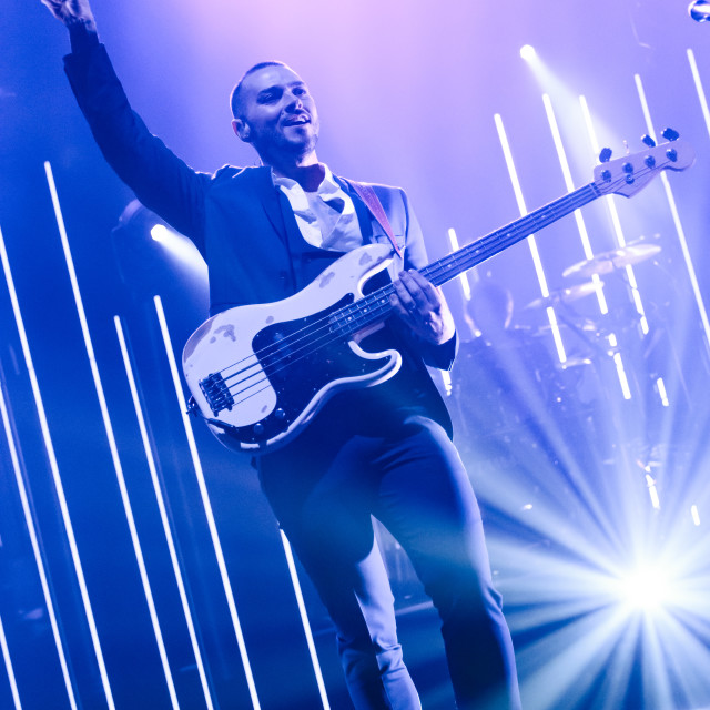 """""""Matt Willis of Busted at Manchester Apollo 2016"""" stock image"""