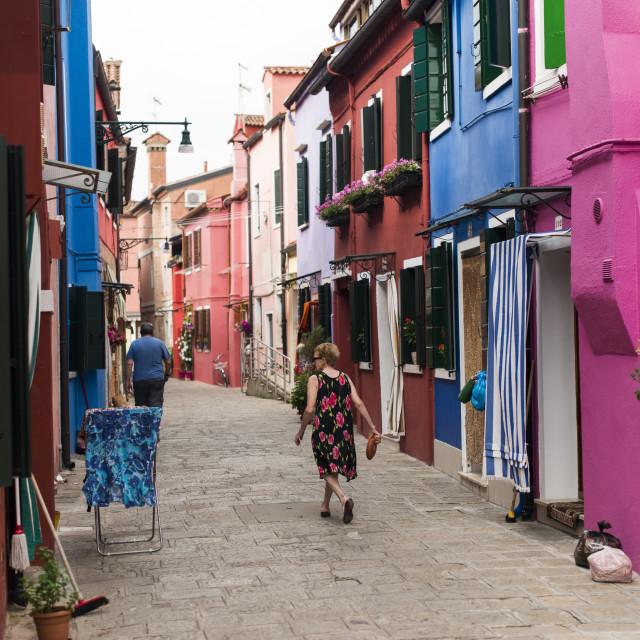 """Colourful Burano houses"" stock image"