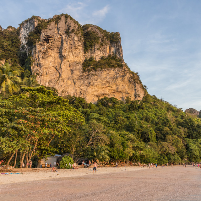 """Karst scenery at Ao Nang beach in Krabi, Thailand, Southeast Asia, Asia."" stock image"