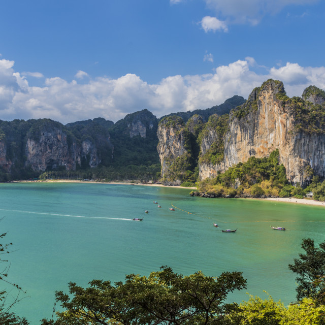 """""""The view from West Railay viewpoint in Railay, Ao Nang, Krabi Province,..."""" stock image"""