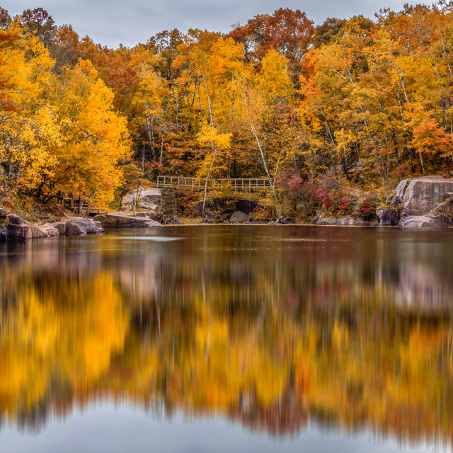 """Fall at the lake"" stock image"