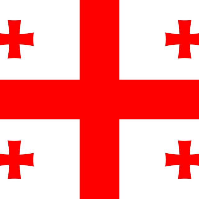"""Flag of Georgia"" stock image"