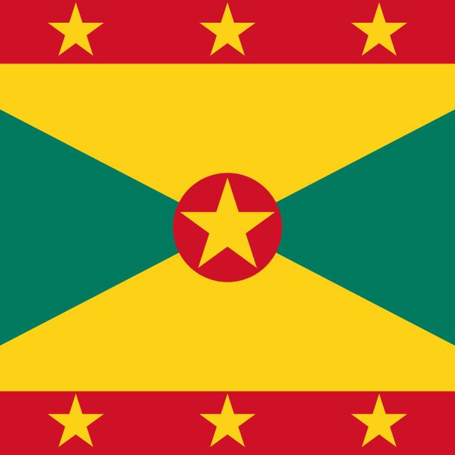 """Flag of Grenada"" stock image"