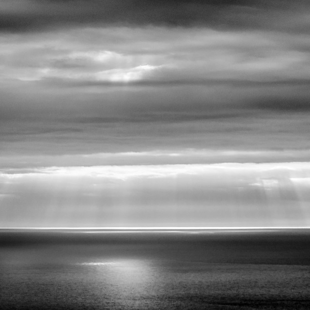 """A Light In The Ocean"" stock image"
