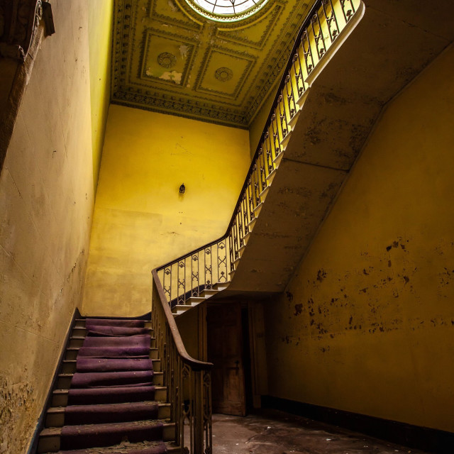 """""""Abandoned Manor Staircase"""" stock image"""