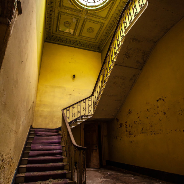"""""""Abandoned stair case"""" stock image"""
