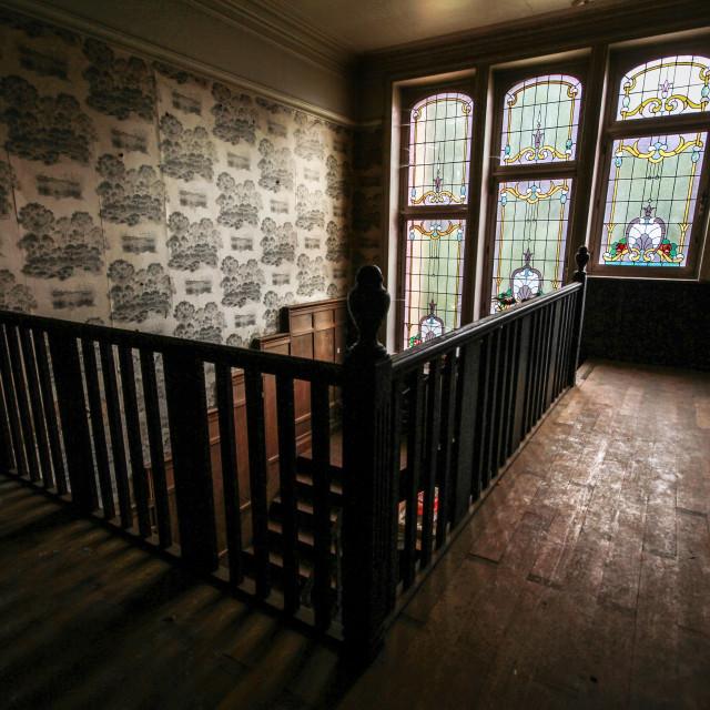 """""""Abandoned Manor Windows"""" stock image"""