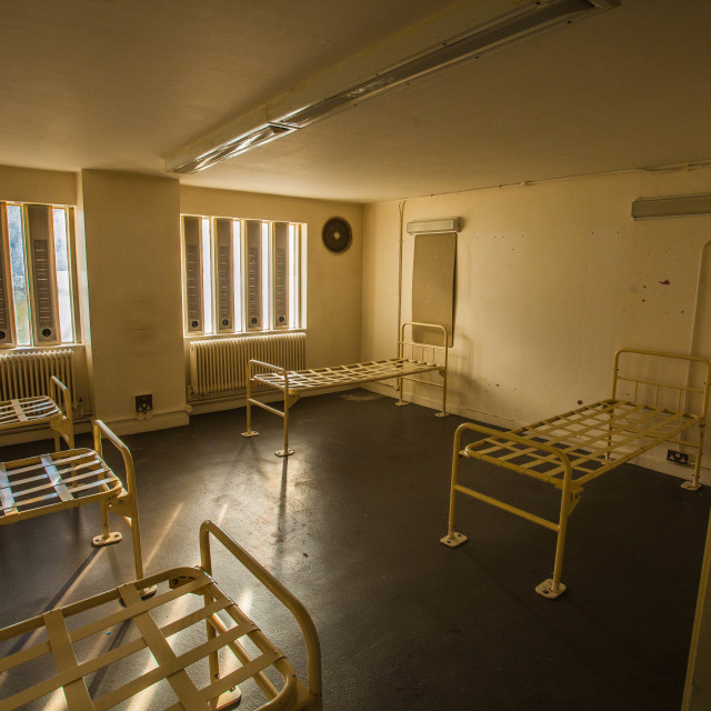 """""""Abandoned jail cell"""" stock image"""
