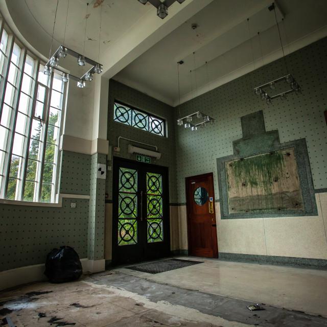 """""""Abandoned Factory Entrance"""" stock image"""