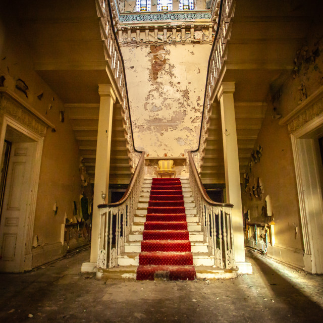 """""""Abandoned Staircase"""" stock image"""
