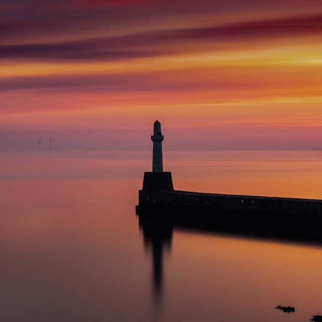 """Sunrise Aberdeen Harbour Scotland"" stock image"