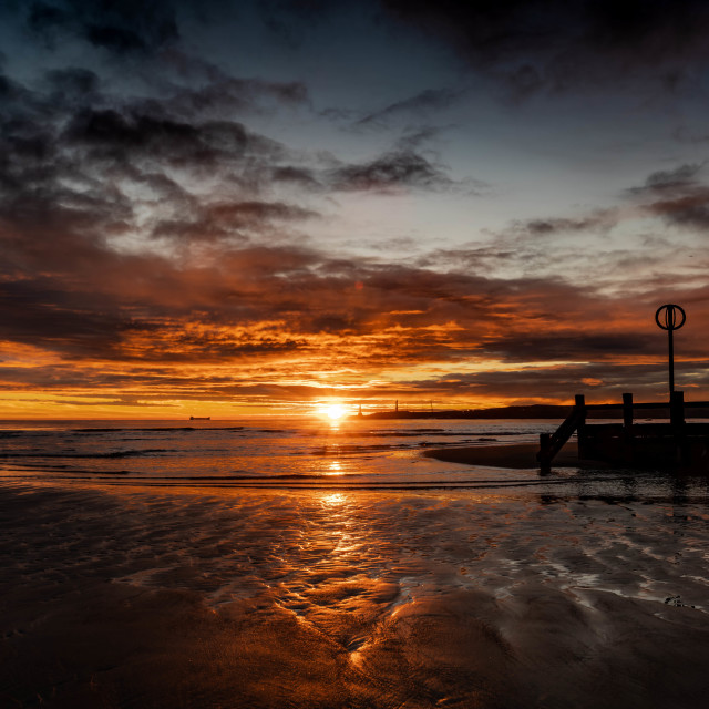 """Sunrise Aberdeen Beach"" stock image"