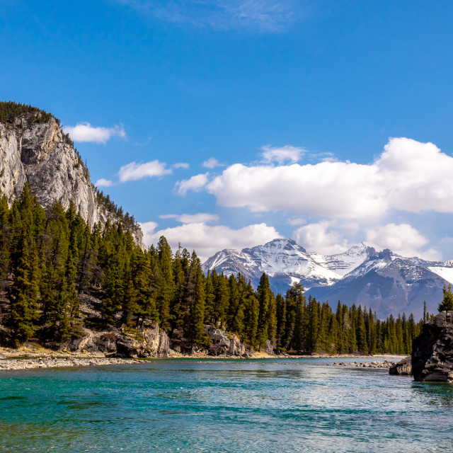 """""""Beautiful Bow River"""" stock image"""