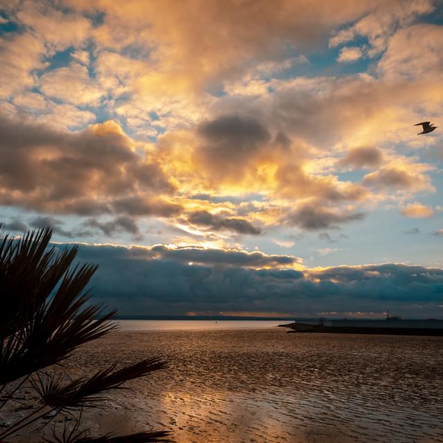 """Concord Beach, Canvey Island, Essex, Britain"" stock image"