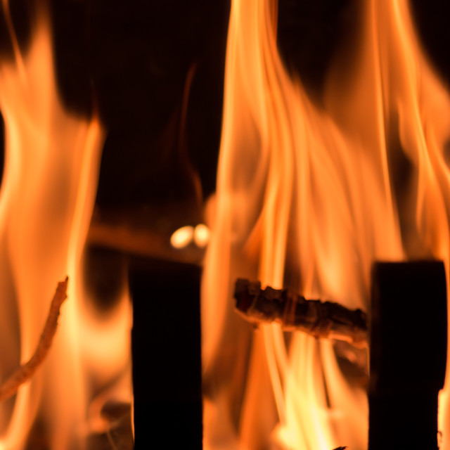"""""""fire and flames backdrop"""" stock image"""