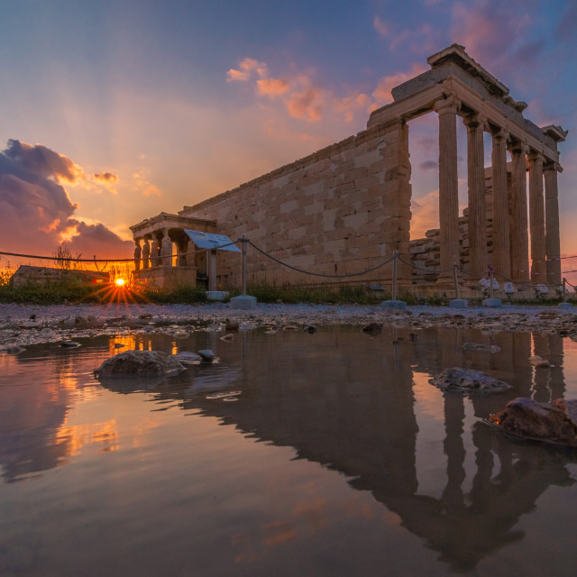 """Sunset in Acropolis"" stock image"