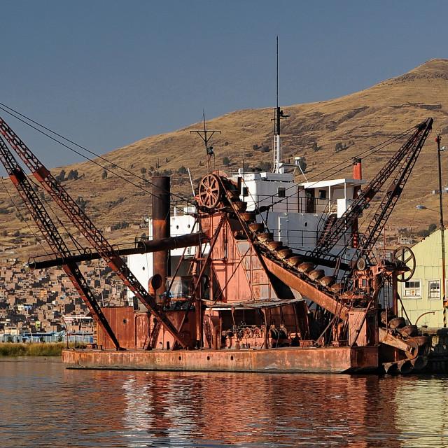 """Puno Harbour."" stock image"