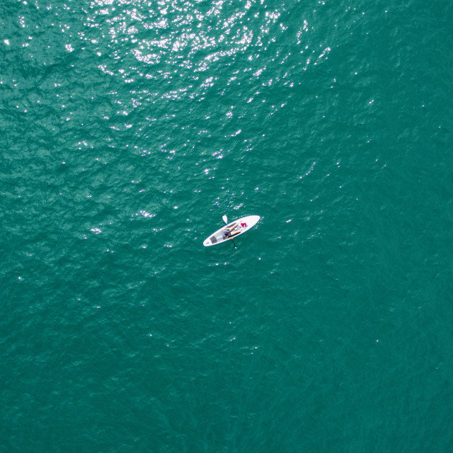 """""""Paddle boarder in the sea"""" stock image"""