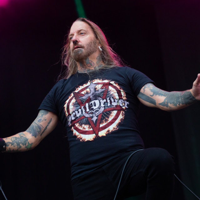 """Devildriver at Bloodstock 2018"" stock image"