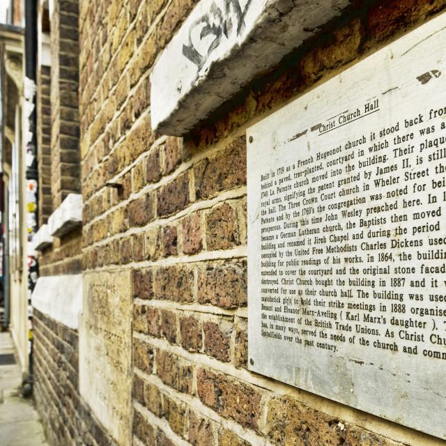 """Christ Church Hall in London UK"" stock image"