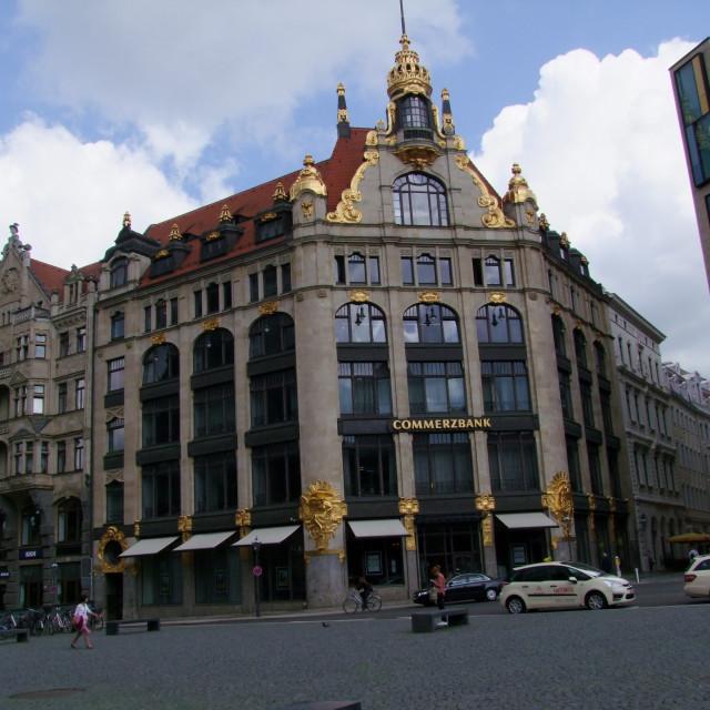 """""""Commerzbank Building, Dresden"""" stock image"""