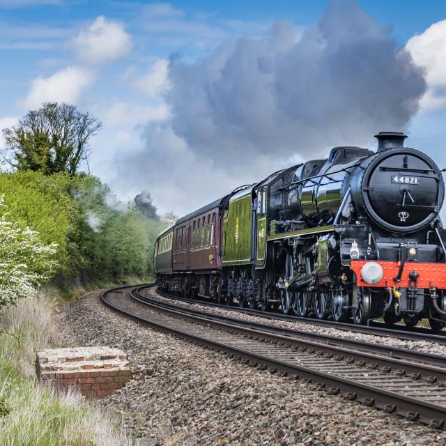 """Steam Locomotive No. 44871"" stock image"