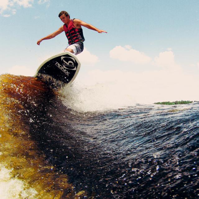 """wakesurfing vibes"" stock image"